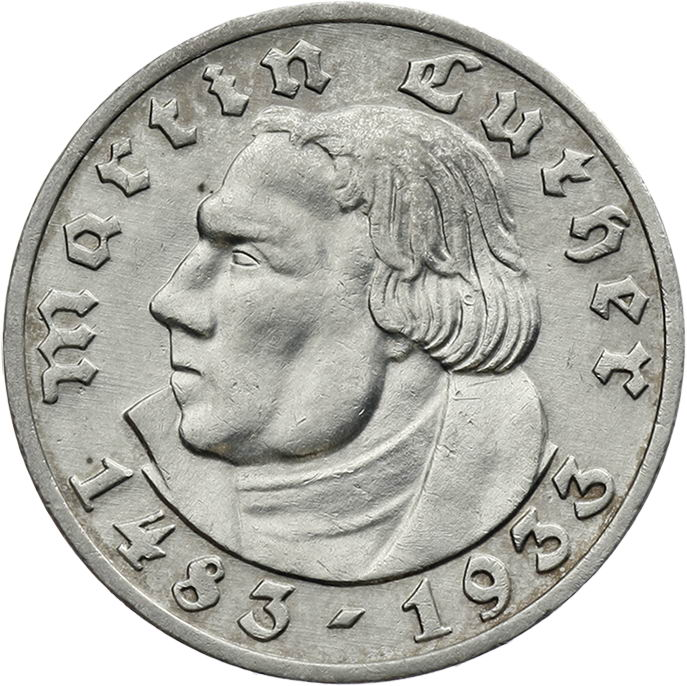 J.353 • 5 Reichsmark Luther 1933 A