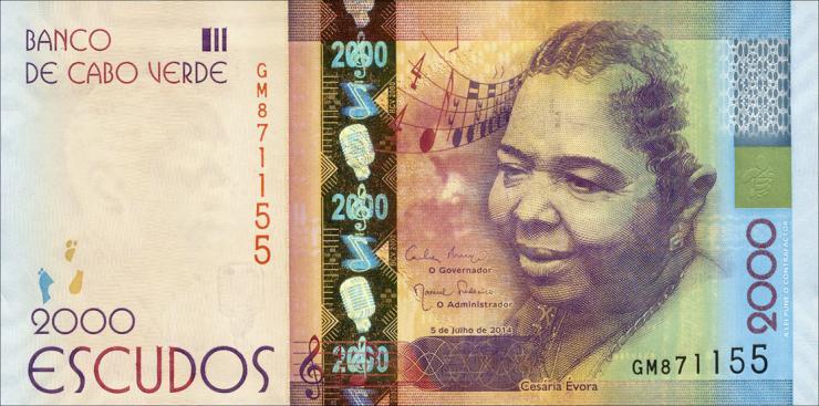 Kap Verde / Cape Verde P.74 2000 Escudos 2014 (1)