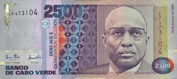 Kap Verde / Cape Verde P.61a 2500 Escudos 1989 (1)