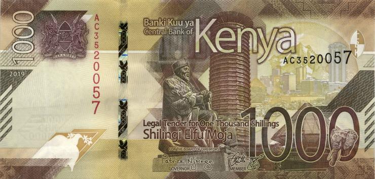 Kenia / Kenya P.neu 1000 Shillings 2019 (1)