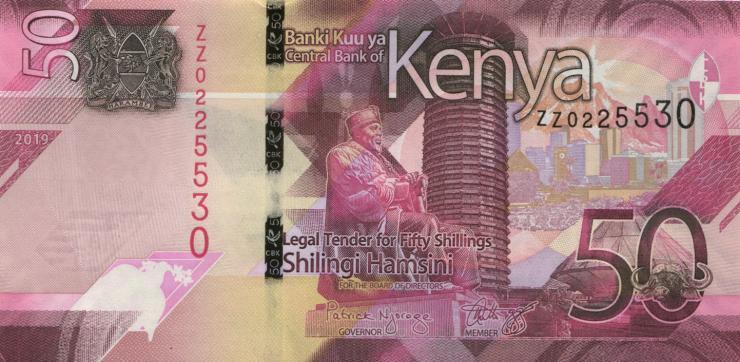 Kenia / Kenya P.neu 50 Shillings 2019 ZZ (1)