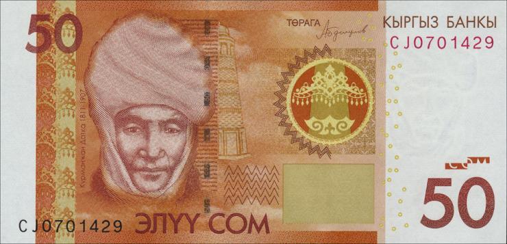 Kirgistan / Kyrgyzstan P.neu 50 Som 2016 (1)