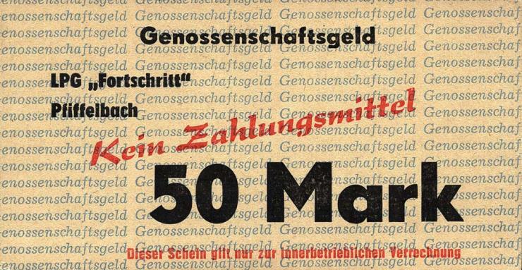 """L.111a.7 LPG Pfiffelbach """" Fortschritt"""" 50 Mark (1)"""