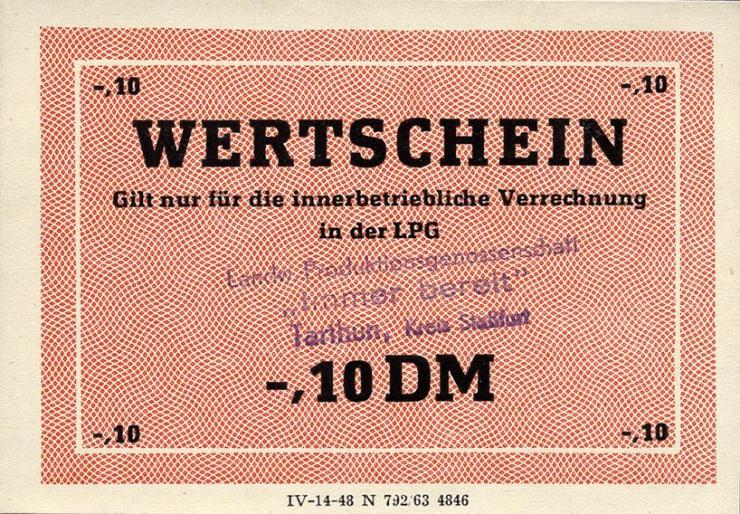 """L.135.1 LPG Tarthun """"Immer bereit"""" 0,10 DM (1)"""