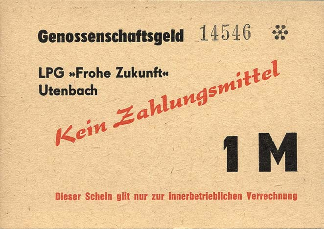 """L.143a.10 LPG Utenbach """" Frohe Zukunft"""" 1 Mark (1)"""