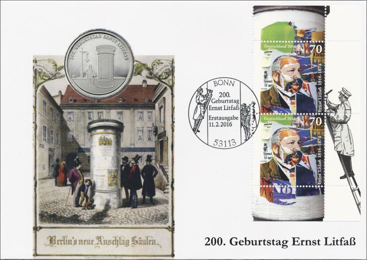 L-9070 • 200. Geburtstag Ernst Litfaß