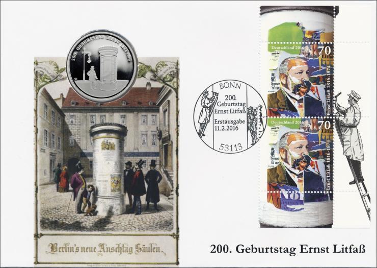 L-9075 • 200. Geburtstag Ernst Litfaß PP-Ausgabe