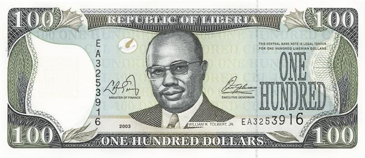 Liberia P.30a 100 Dollars 2003 (1)