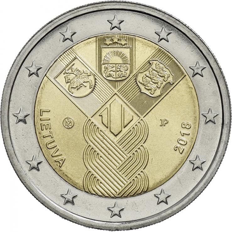 Litauen 2 Euro 2018 (Baltische Gemeinschaftsausgabe) 100 Jahre Unabhängigkeit