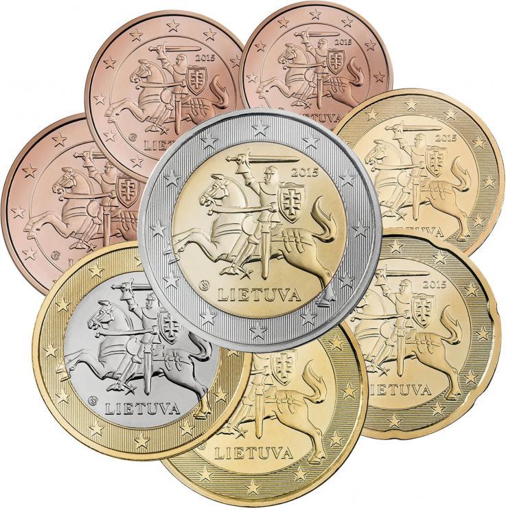 Litauen Eurokursmünzensatz 2015 (lose)