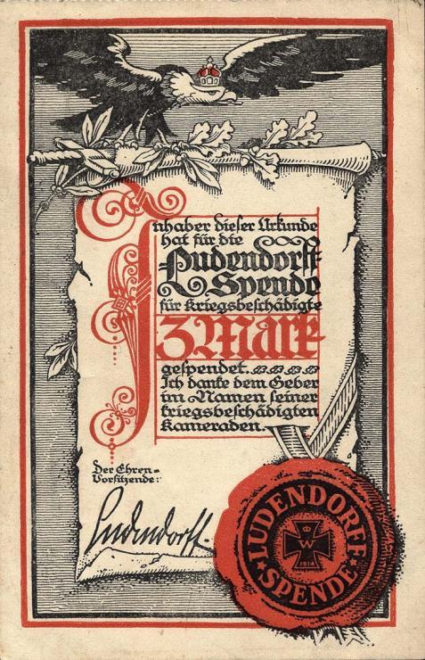 Ludendorffspende 3 Mark (1-)