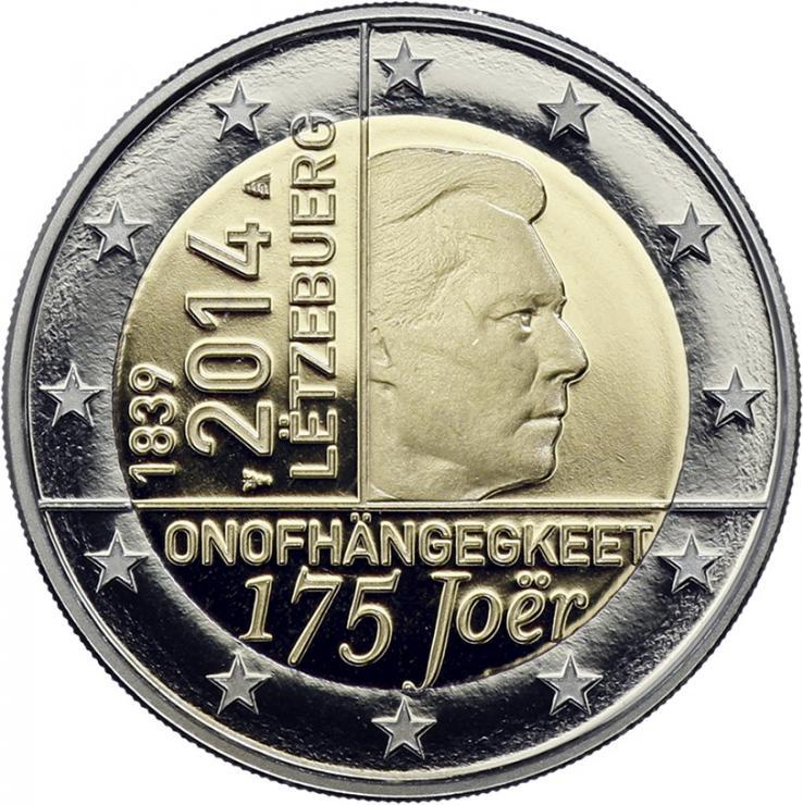 Luxemburg 2 Euro 2014 175 Jahre Unabhängigkeit PP