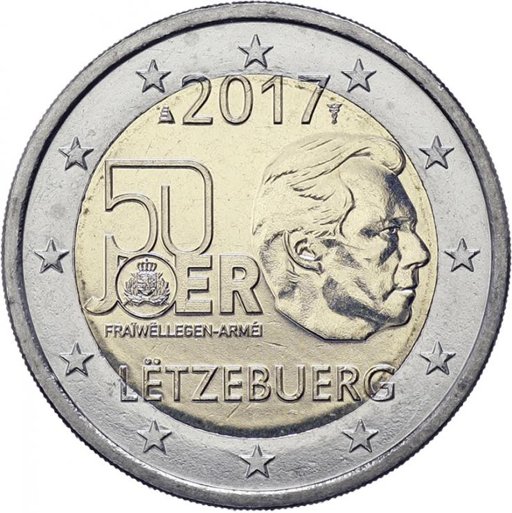 Luxemburg 2 Euro 2017 50 Jahre Freiwilligenarmee