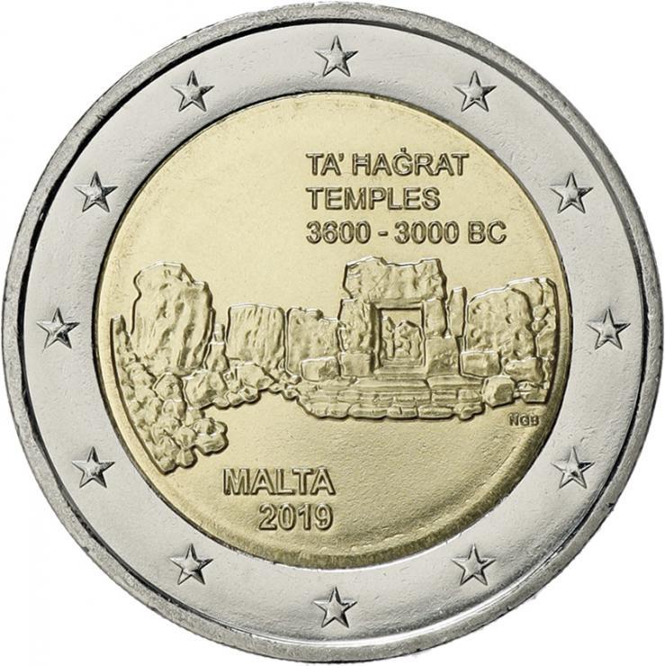 Malta 2 Euro 2019 Ta' Hagrat Tempel