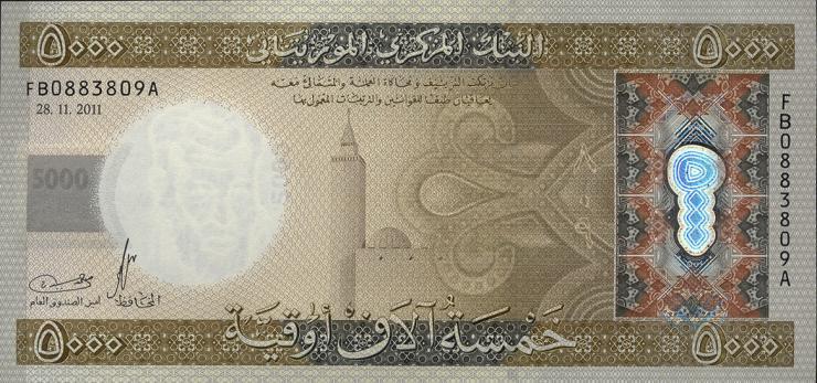 Mauretanien / Mauritania P.21 5000 Ouguiya 2011 (1)