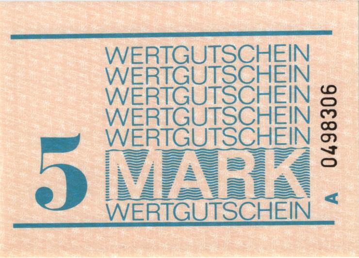 MDI-30 DDR Gefängnisgeld 5 Mark (1982-1990) (1)