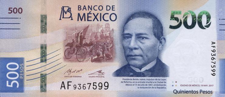 Mexiko / Mexico P.neu 500 Pesos 2017 (1)