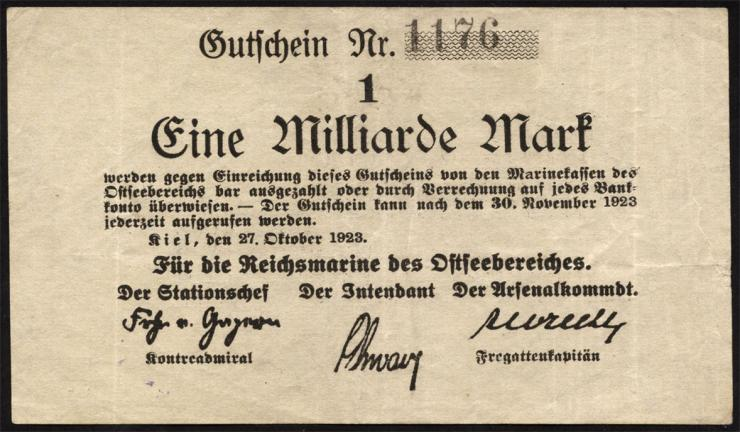 Mil-05a Reichsmarine Ostseebereich 1 Milliarde Mark 1923 (2)