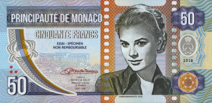 Monaco 50 Francs 2018 Grace Kelly (1)