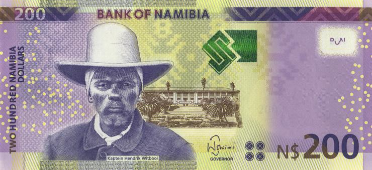 Namibia P.15c 200 Namibia Dollars 2018 (1)