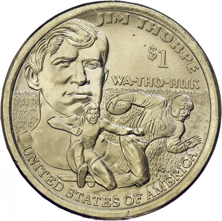 USA 1 Dollar 2018 Indianerin / Jim Thorpe