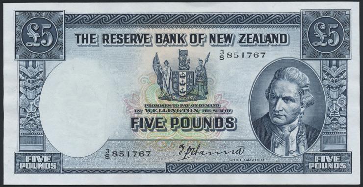 Neuseeland / New Zealand P.160c 5 Pounds (1956-60) (1/1-)