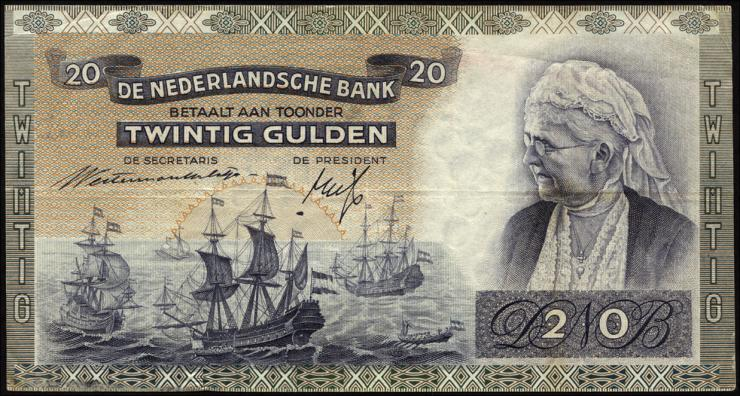Niederlande / Netherlands P.054 20 Gulden 1941 (3+)