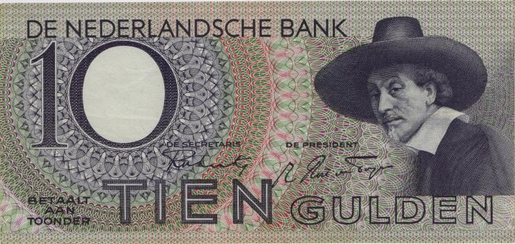 Niederlande / Netherlands P.059 10 Gulden 1943 (1-)