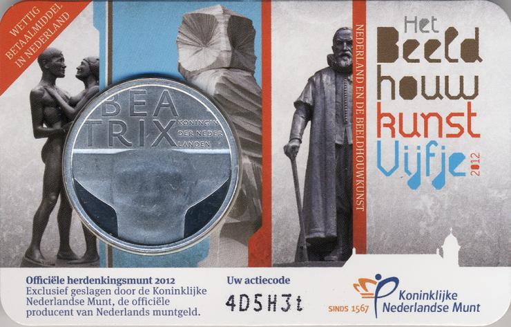Niederlande 5 Euro 2012 Bildhauerkunst