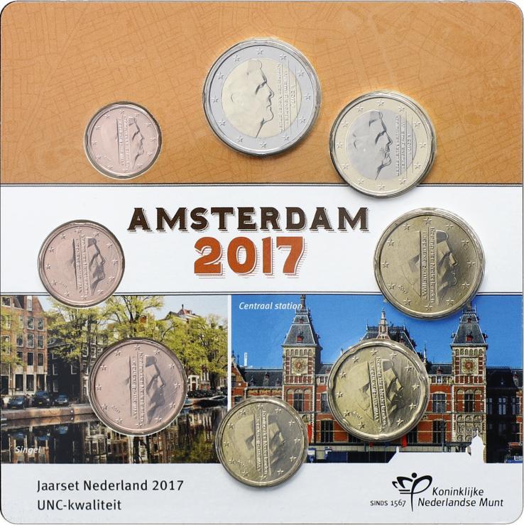 "Niederlande Euro-KMS 2017 ""Amsterdam"" Blister"