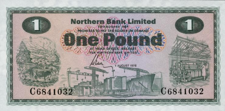 Nordirland / Northern Ireland P.187c 1 Pound 1978 (1)