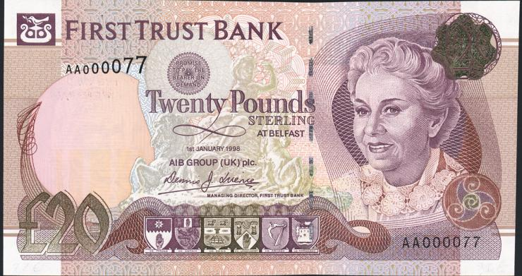 Nordirland / Northern Ireland P.137a 20 Pounds 1998 (1)