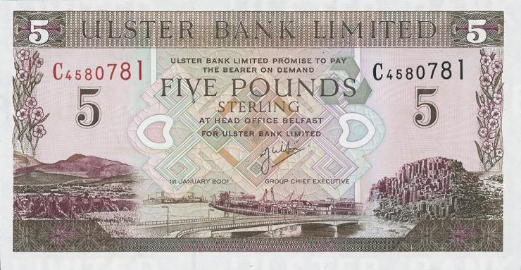 Nordirland / Northern Ireland P.335c 5 Pounds 2001 (1)