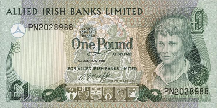 Nordirland / Northern Ireland P.001a 1 Pound 1982 (1)