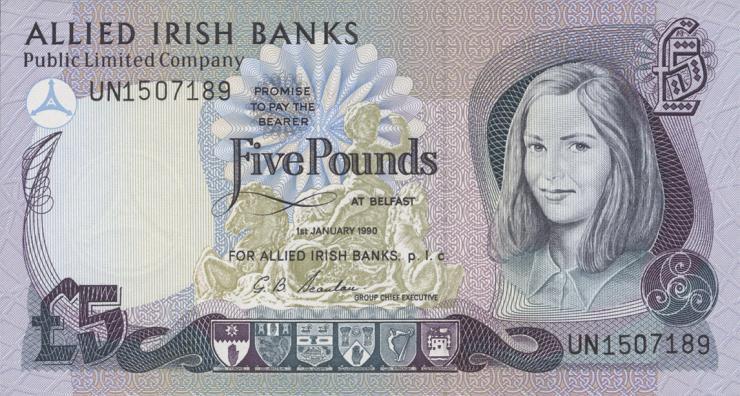 Nordirland / Northern Ireland P.006b 5 Pounds 1990 (1)