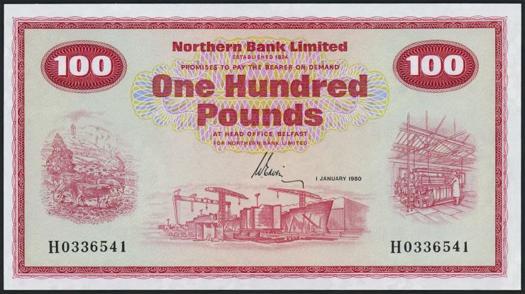Nordirland / Northern Ireland P.192d 100 Pounds 1980 (1)