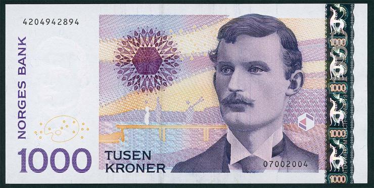 Norwegen / Norway P.52b 1000 Kronen 2004 (1)