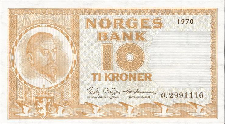 Norwegen / Norway P.31e 10 Kronen 1970 (1)