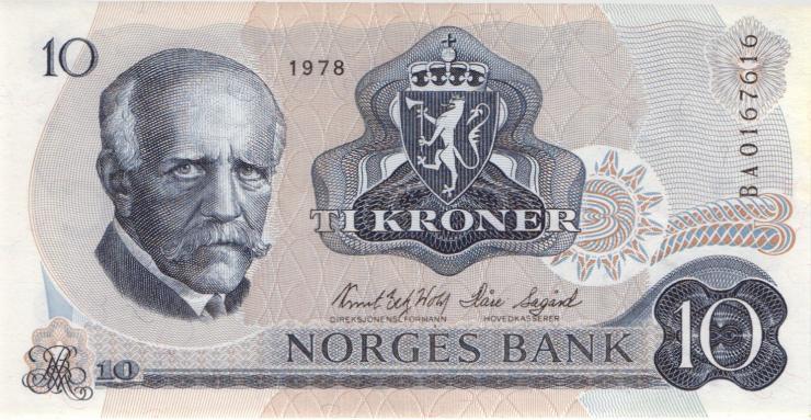 Norwegen / Norway P.36c 10 Kronen 1978 (1)