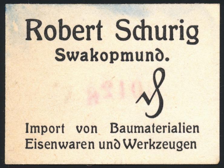Swakopmund Deutsch-Südwestafrika Notgeld