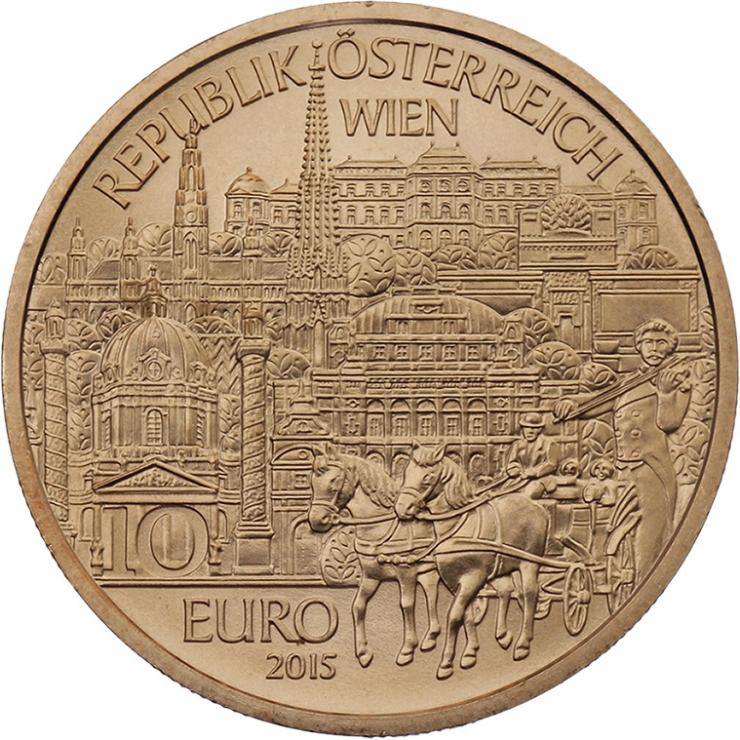 Österreich 10 Euro 2015 Wien Kupfer
