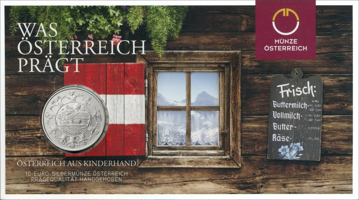 Österreich 10 Euro 2016 Österreich aus Kinderhand Silber