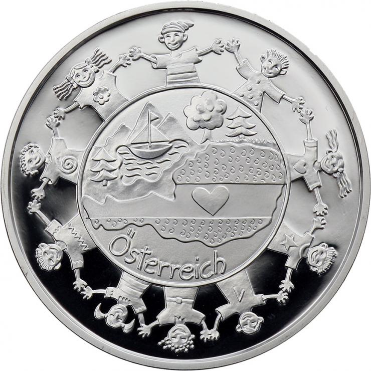 Österreich 10 Euro 2016 Österreich aus Kinderhand Silber PP