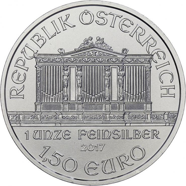 Österreich 1,5 Euro 2017 Philharmoniker (Unze)