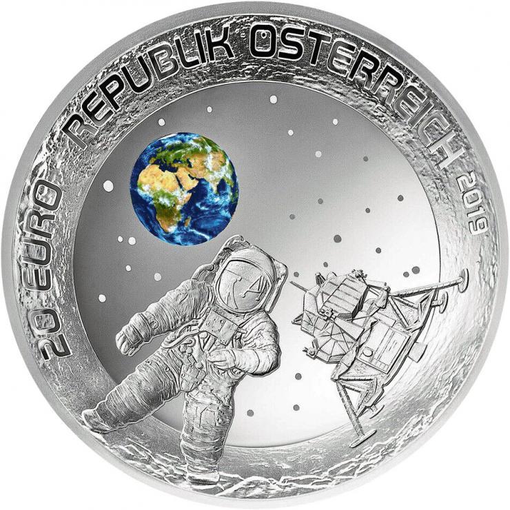 Österreich 20 Euro 2019 50 Jahre Mondlandung PP