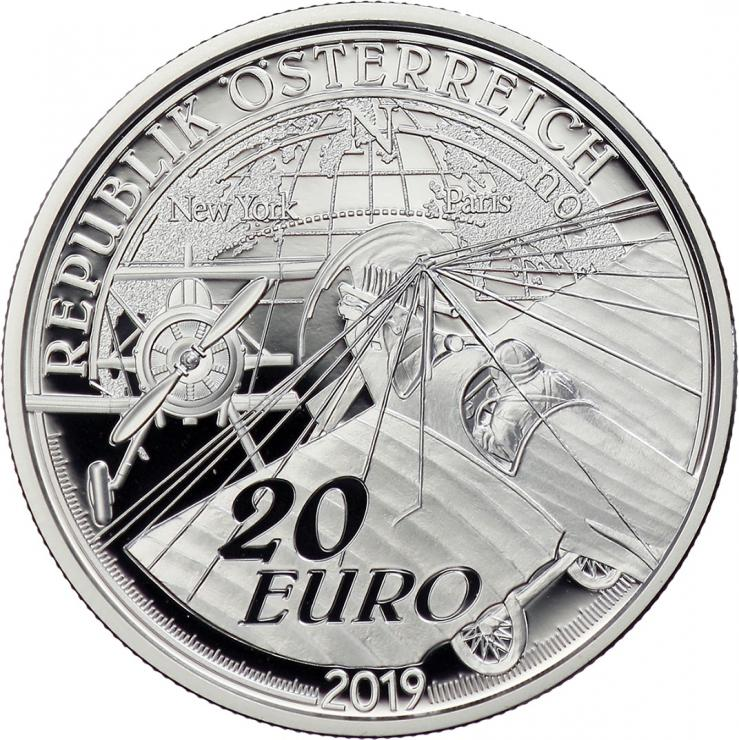 Österreich 20 Euro 2019 Die Ära des Motorflugs PP