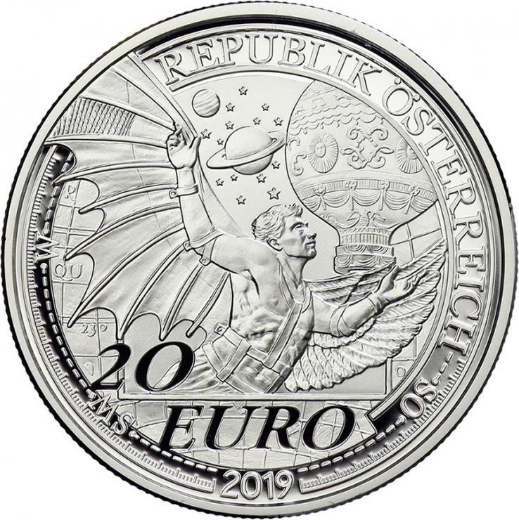 Österreich 20 Euro 2019 Der Traum vom Fliegen PP