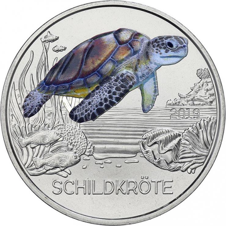 Österreich 3 Euro 2019 Schildkröte
