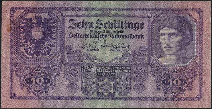Österreich / Austria P.089 10 Schillinge 1925 (3)