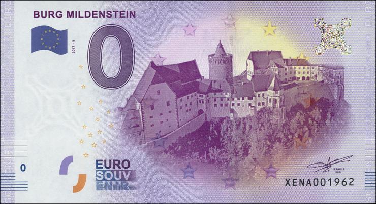 0 Euro Souvenir Schein Burg Mildenstein (1)
